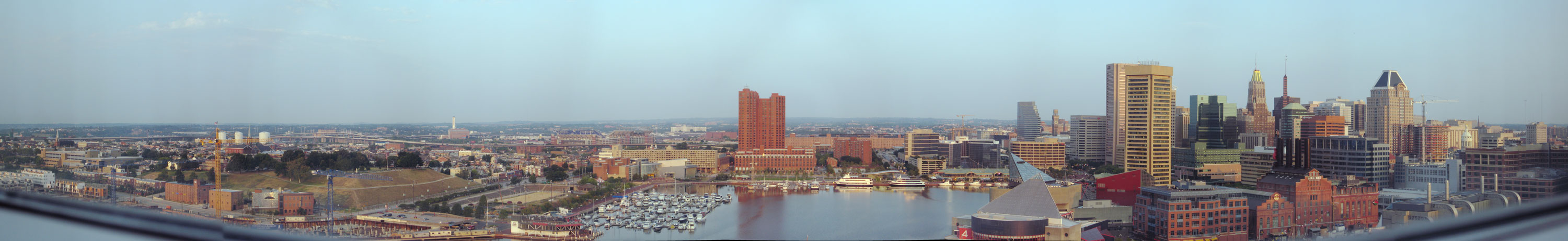 View from my hotel in Baltimore