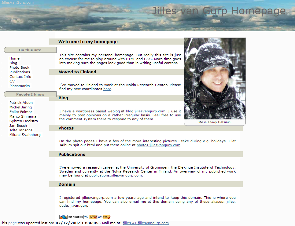 My old web site