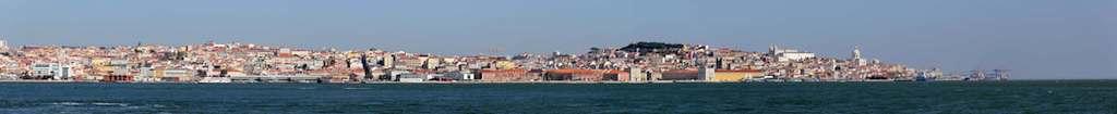 Panorama photo of Lisbon